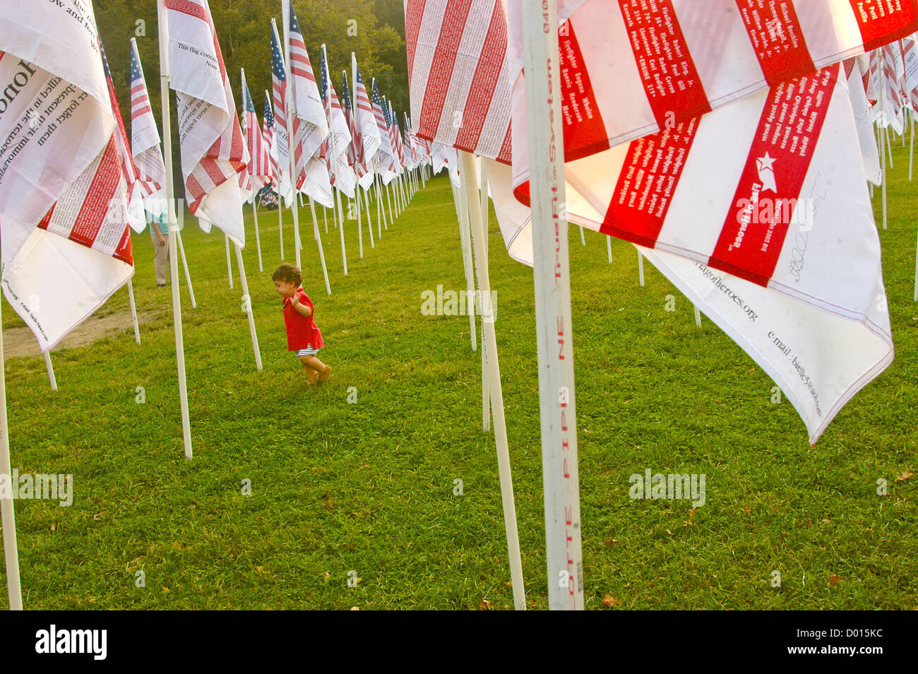 Flags of Heroes Flags of Honor tribute to victims of September 11th ©Stacy Walsh Rosenstock - Stock Image