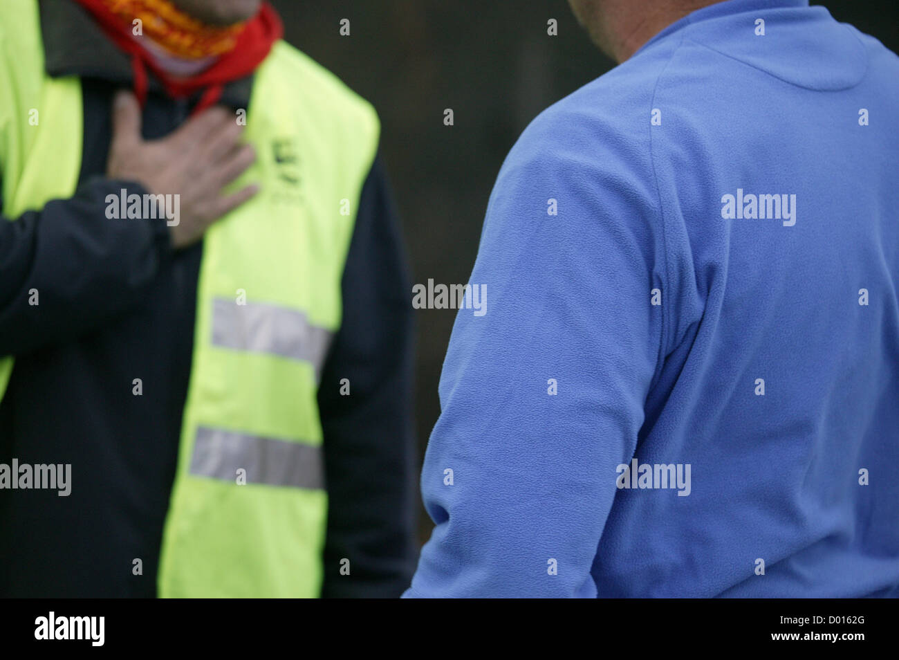 14th November 2012. Barricades of picketers block key industrial and logistical areas in Barcelona, Spain. Today Stock Photo
