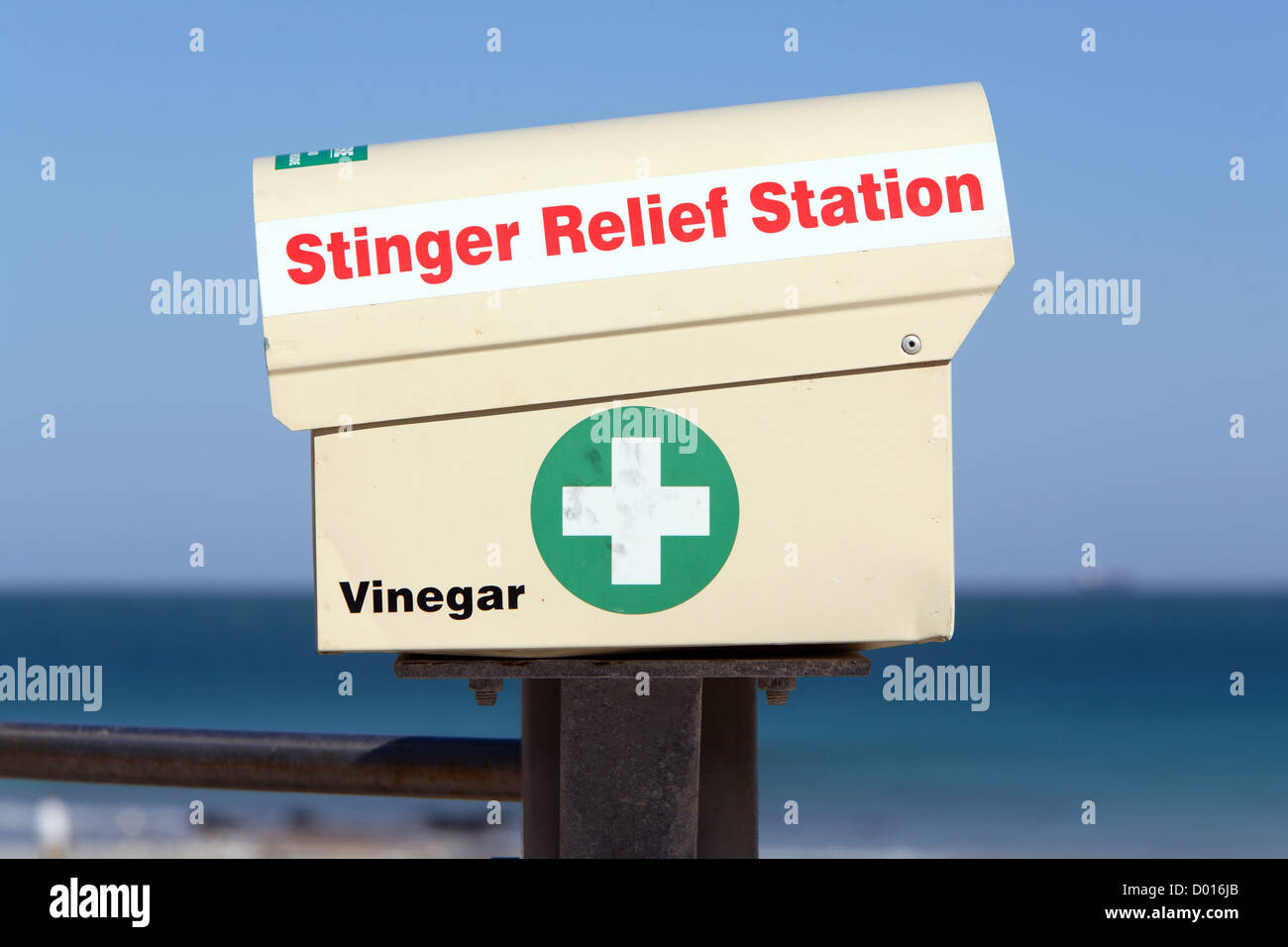 Stinger relief station. Cable Beach, Broome, Western Australia. - Stock Image