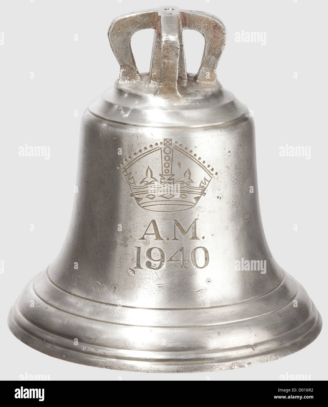 A 'Scramble' Bell, 1940. An early World War Two Royal Air Force 'Scramble' Bell, according to the - Stock Image