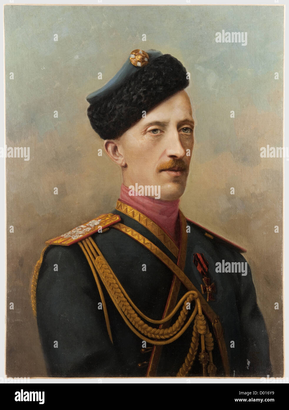 Duke Peter Alexandrovich Oldensburgsky (1868 - 1924) - a portrait painting, Russia, circa 1910. Oil on canvas, relined. - Stock Image