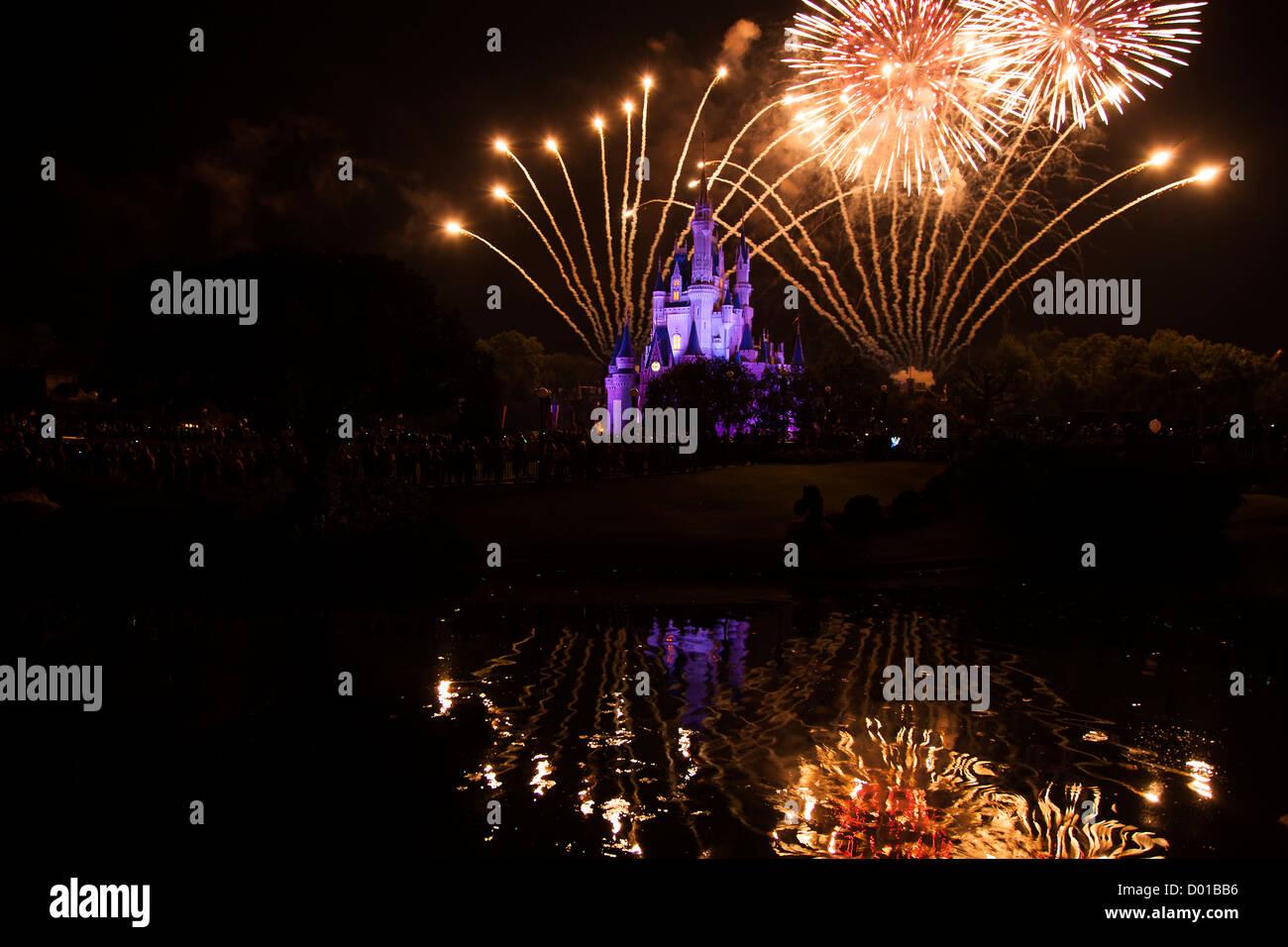 Florida USA Magic Kingdom Disney World Wishes 2012 - Stock Image