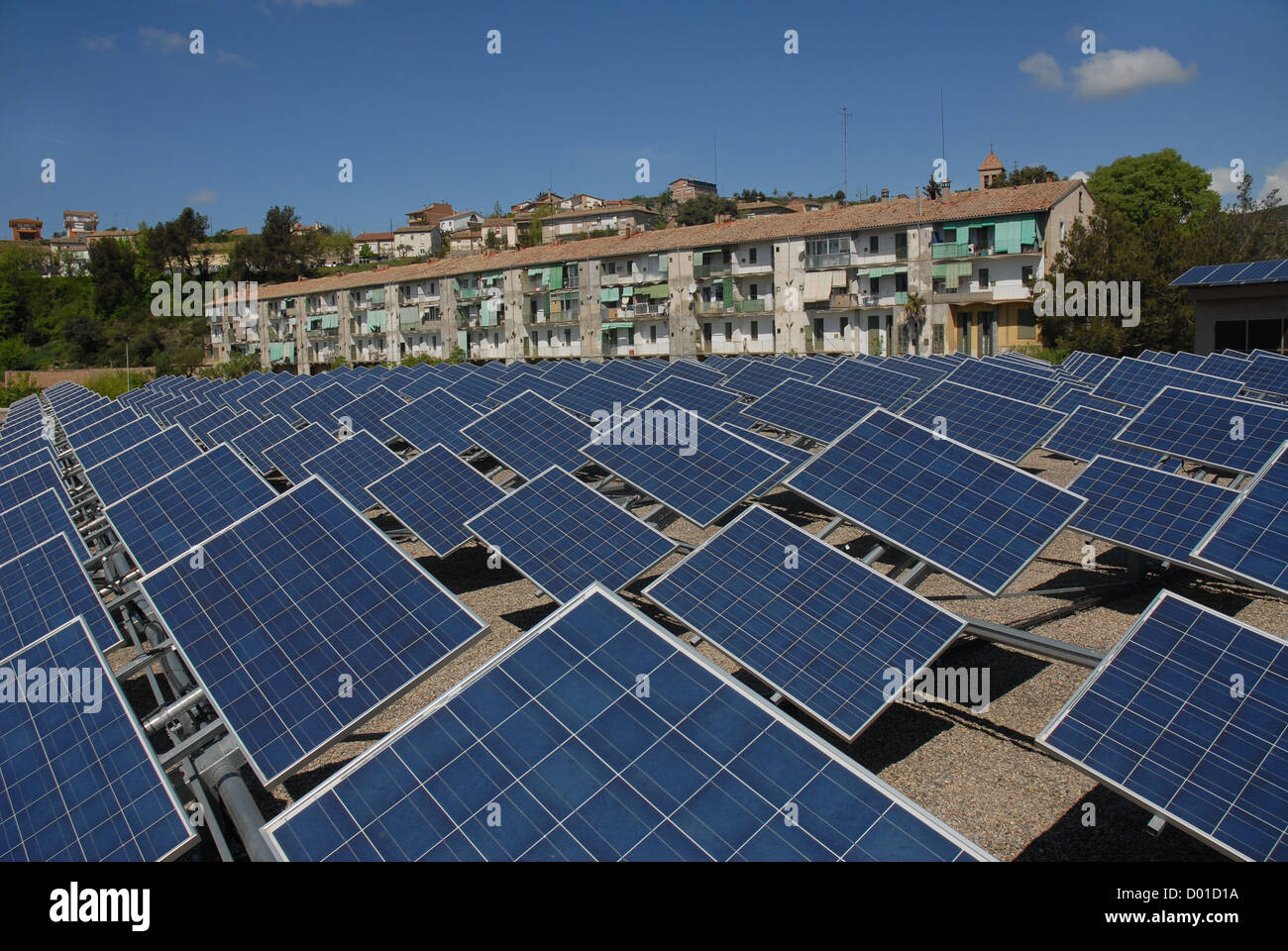 solare photovoltaic panels,  photovoltaic systems movable - Stock Image