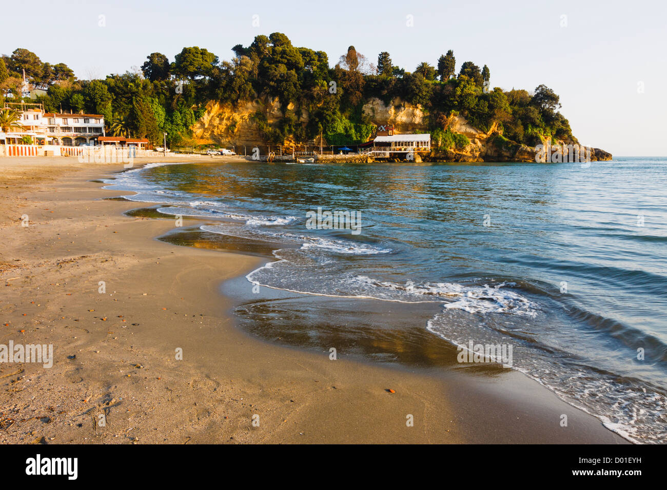 Mala plaza beach in Ulcinj, Montenegro - Stock Image