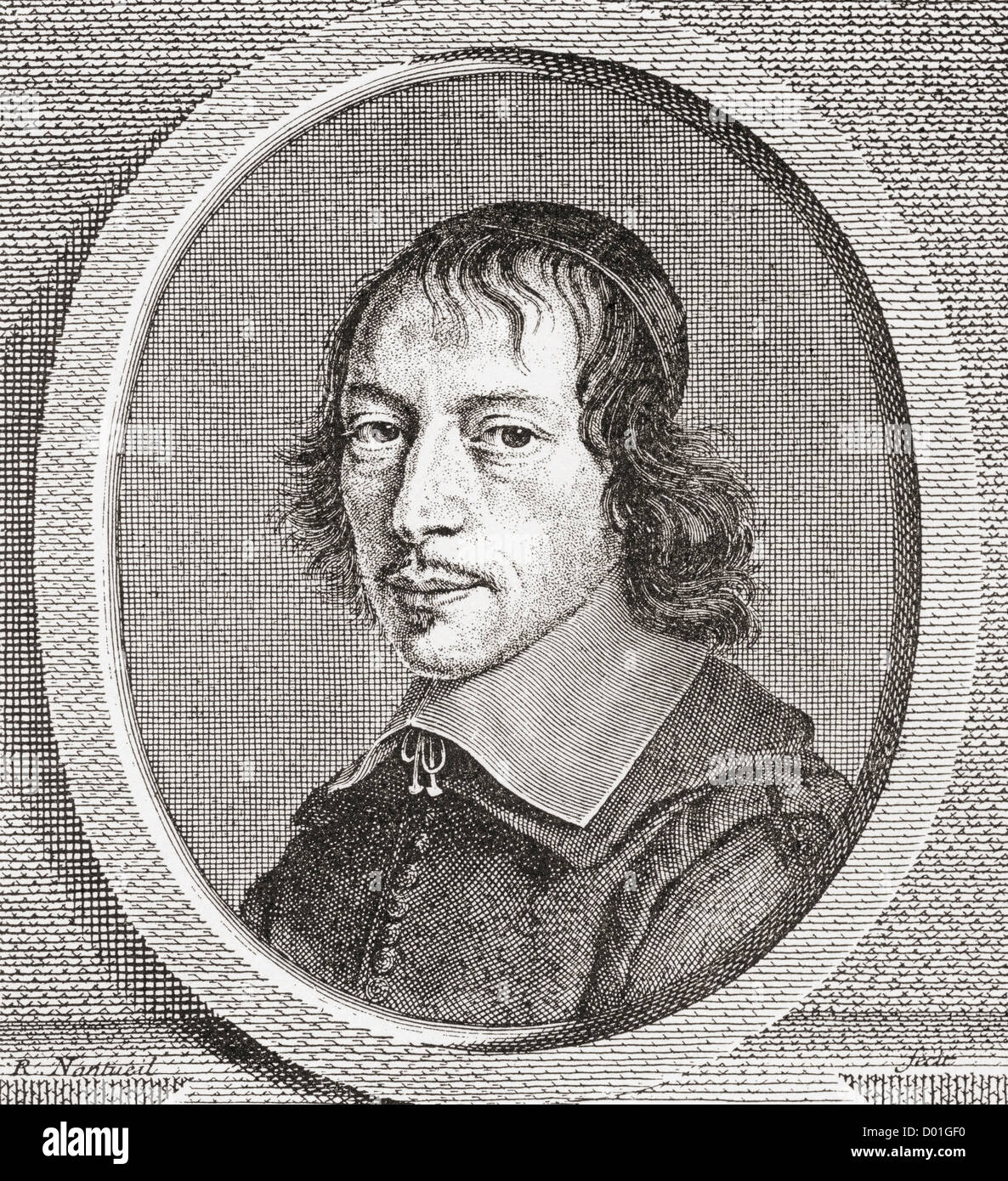 Gilles Ménage, 1613 – 1692. 17th century French scholar. - Stock Image