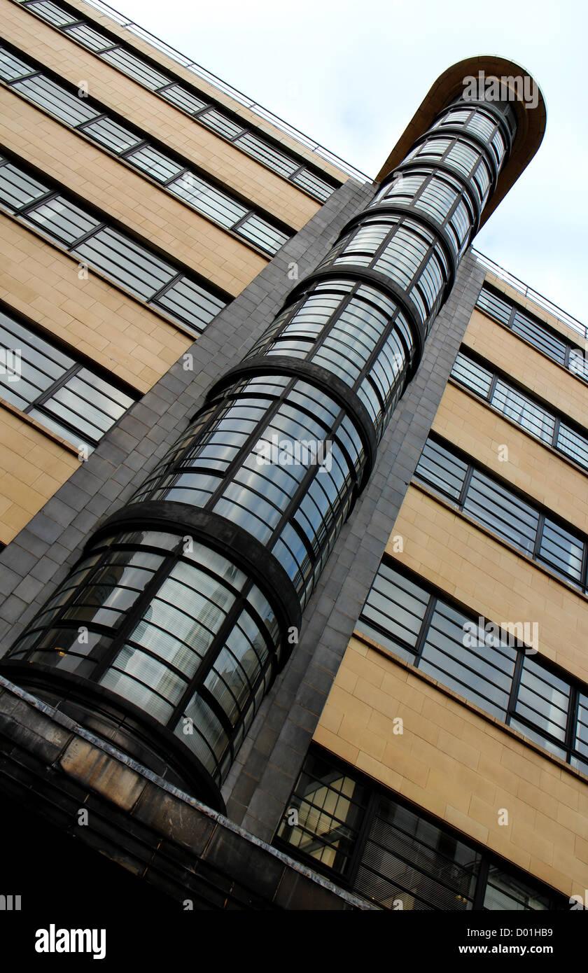 Ibex House, Streamline Art Deco Moderne style office block built between 1935 and 1937, largest UK survivor - Stock Image