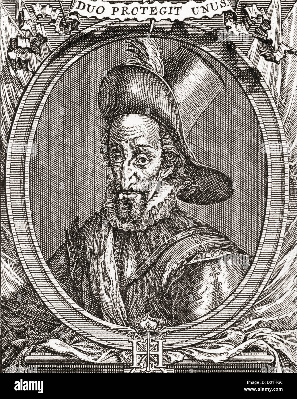 Henry IV, 1553 –1610. King of Navarre (as Henry III) from 1572 to 1610 and King of France from 1589 to 1610. Stock Photo