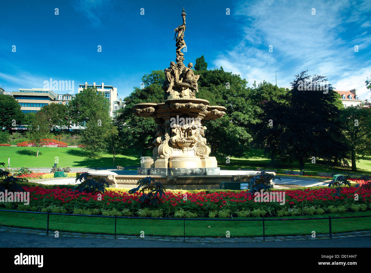 The Ross Fountain, Princes Street Gardens, Edinburgh - Stock Image