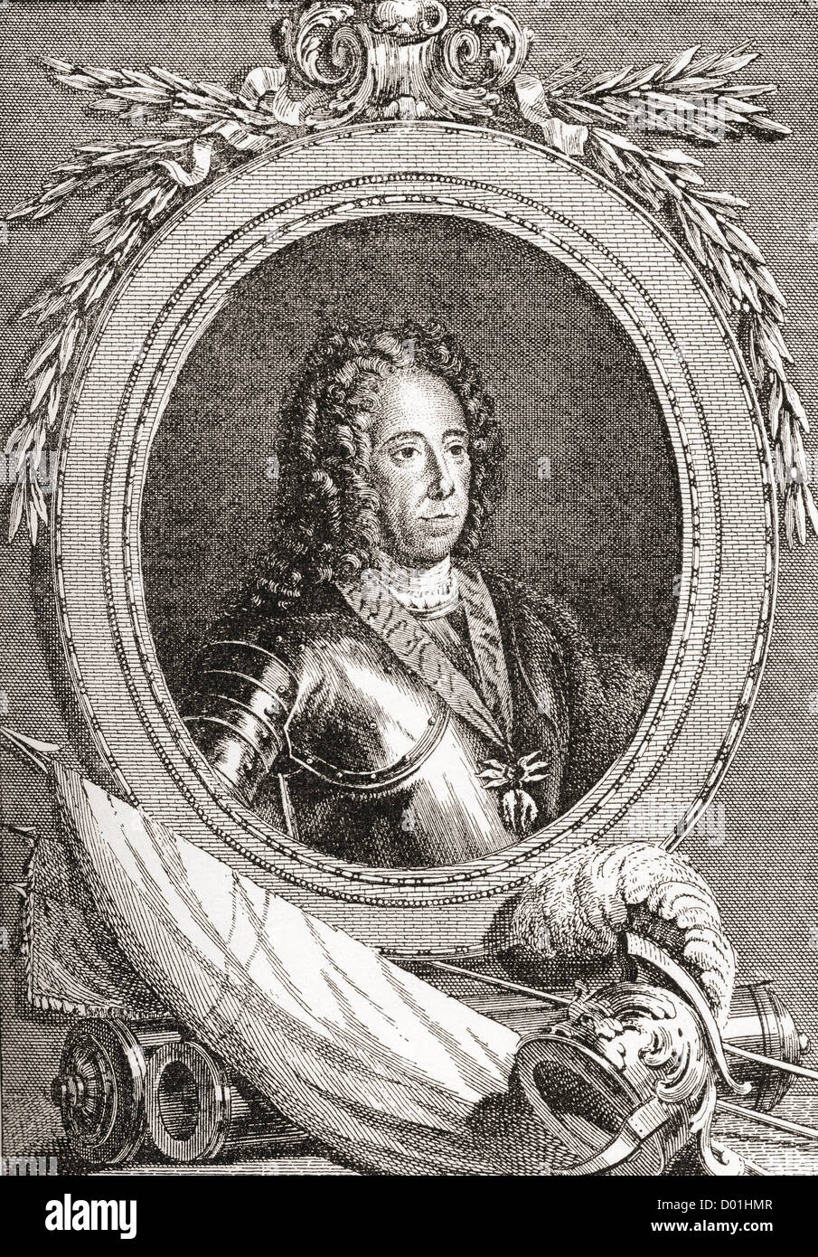 Prince Eugene of Savoy, 1663 – 1736. French military commander. - Stock Image