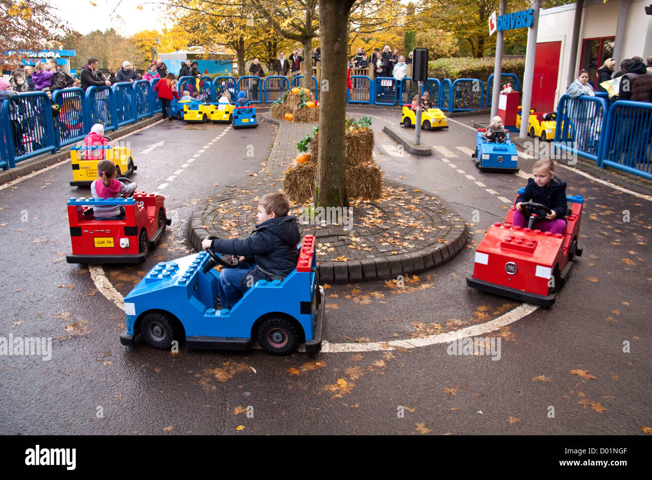 L-Drivers ride at Legoland theme park, Windsor, England, United Kingdom. Stock Photo