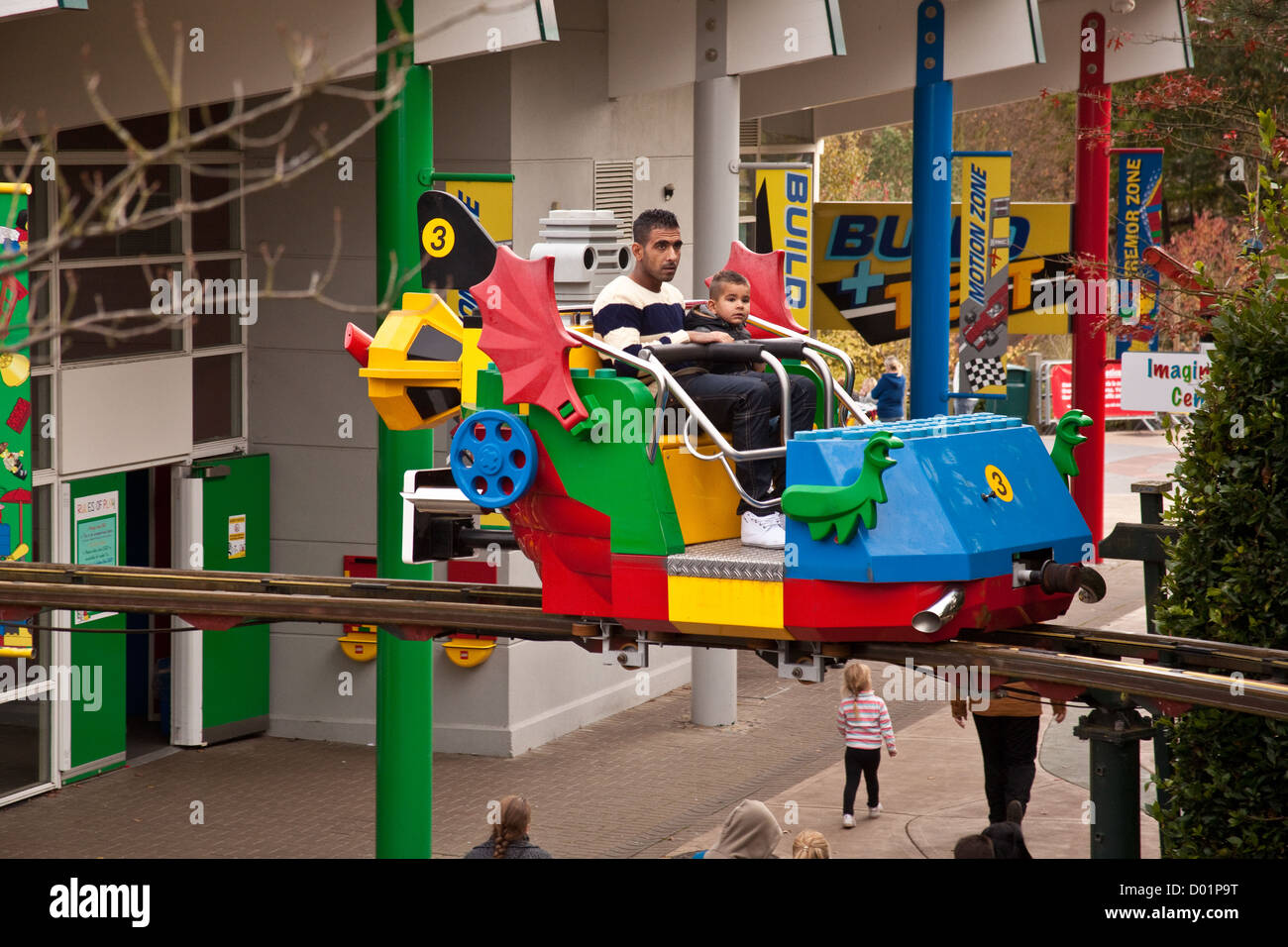Sky Rider ride at Legoland theme park, Winsor, England, United Kingdom. Stock Photo