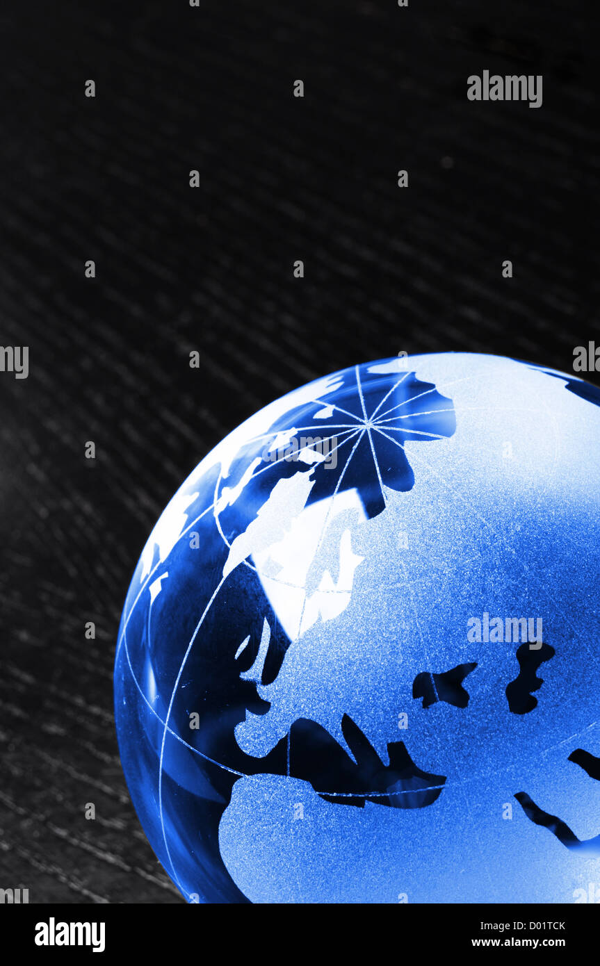 global business or eco concept with black copyspace - Stock Image