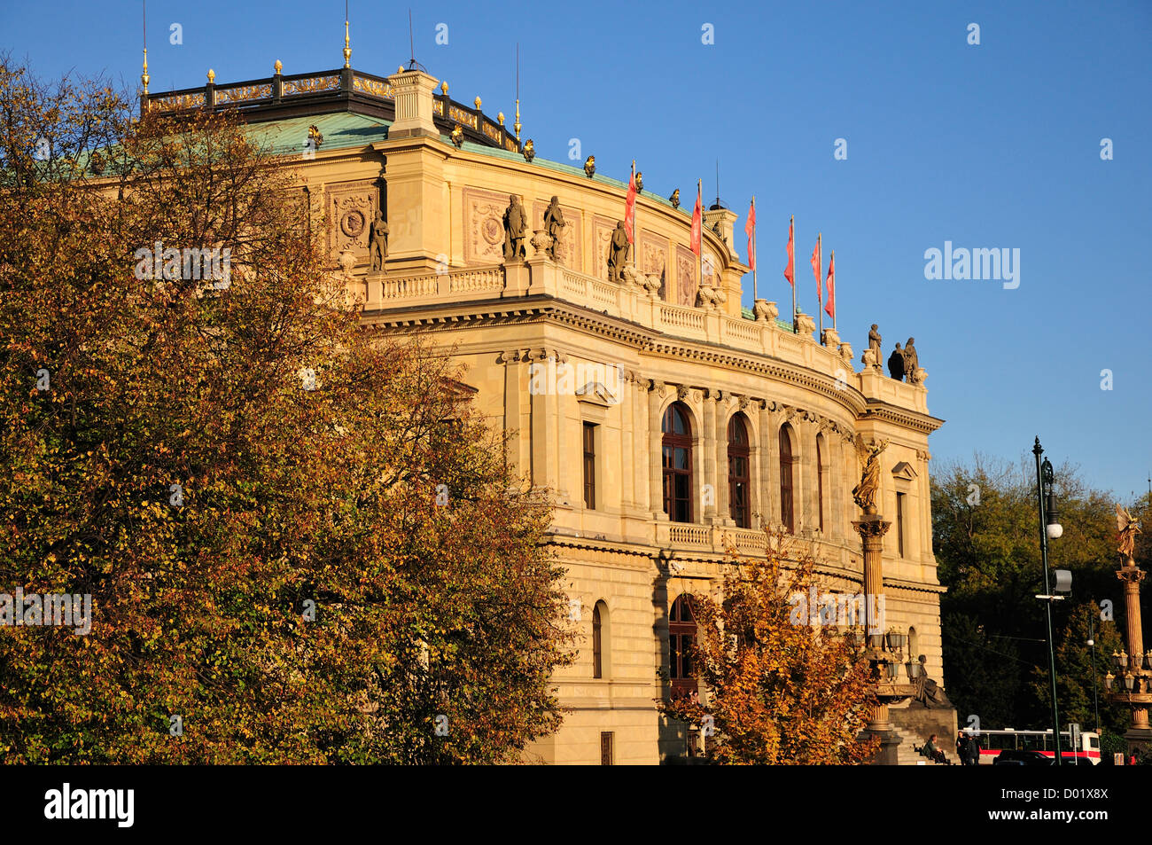 Prague, Czech Republic. Rudolfinum (Josef Zitek; 1875-84. neo-Renaissance) Concert hall Stock Photo