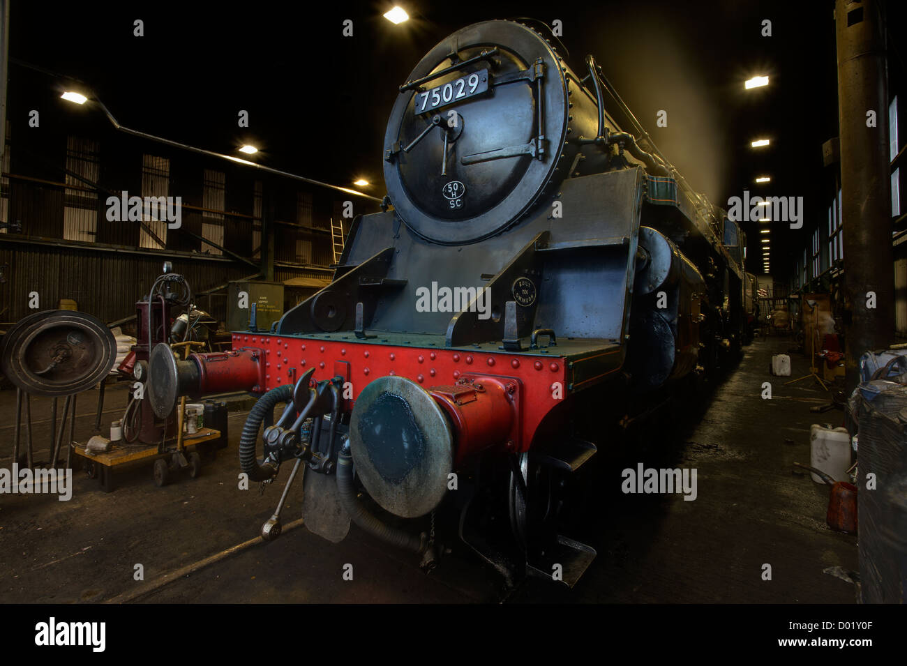 North York Moors Locomotive 75029 'The Green Knight - Stock Image