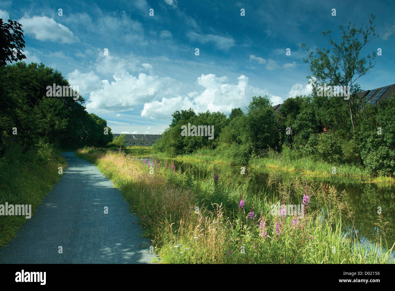 The Forth & Clyde Canal at Maryhill, Glasgow - Stock Image