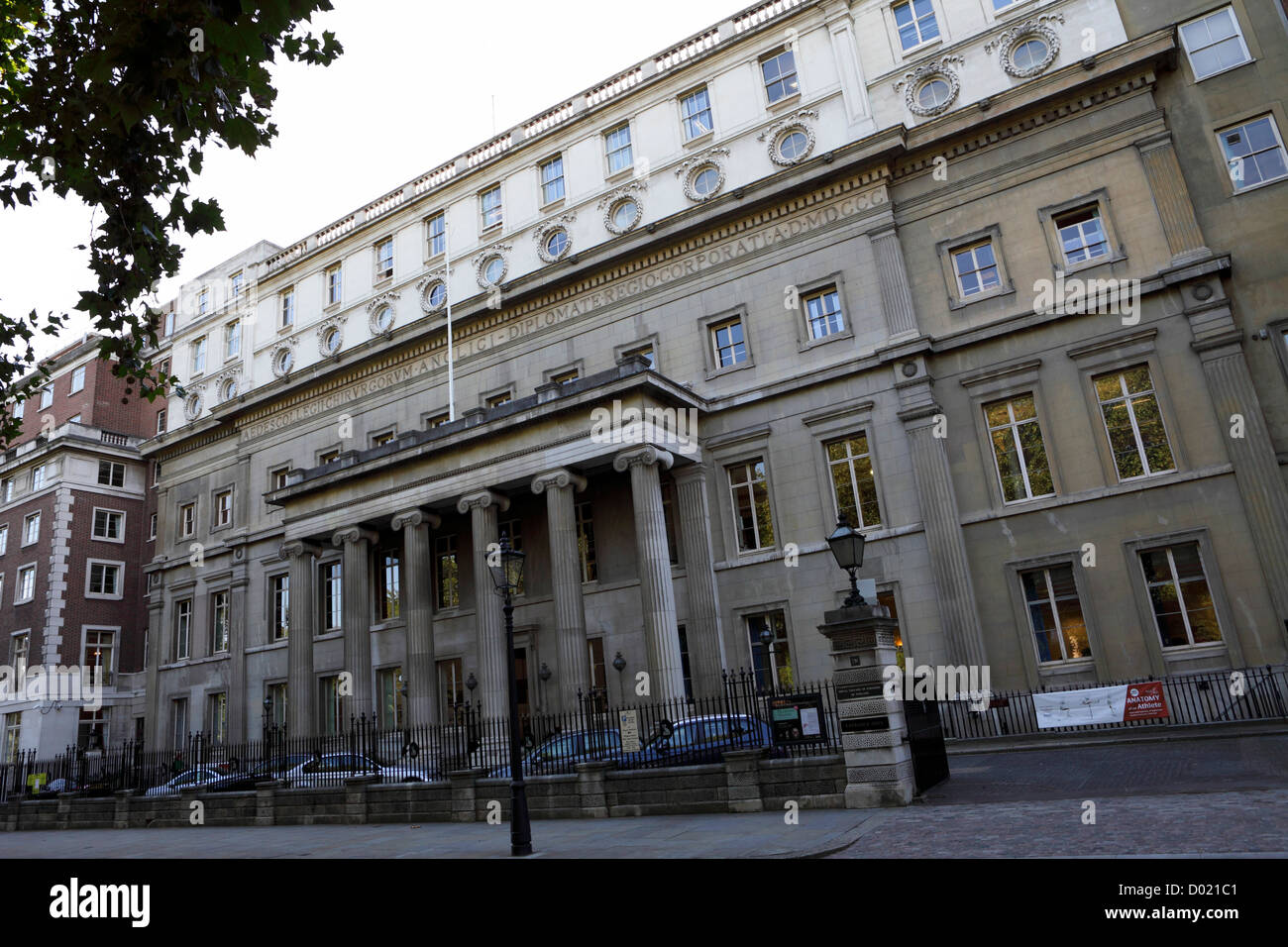 The Royal College of Surgeons of England,situated in Lincoln`s Inn Fields. - Stock Image
