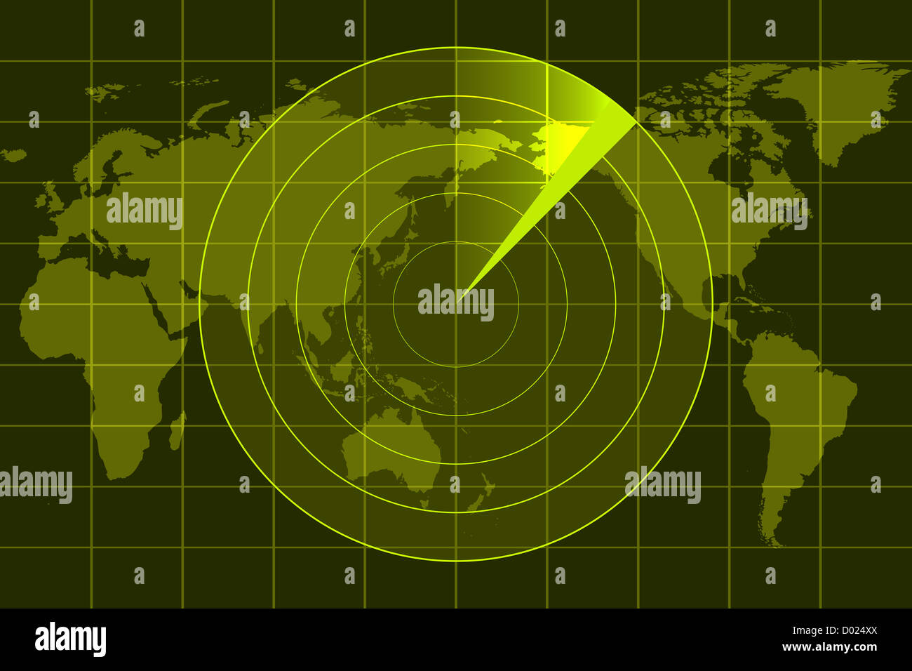 illustration of radar - Stock Image