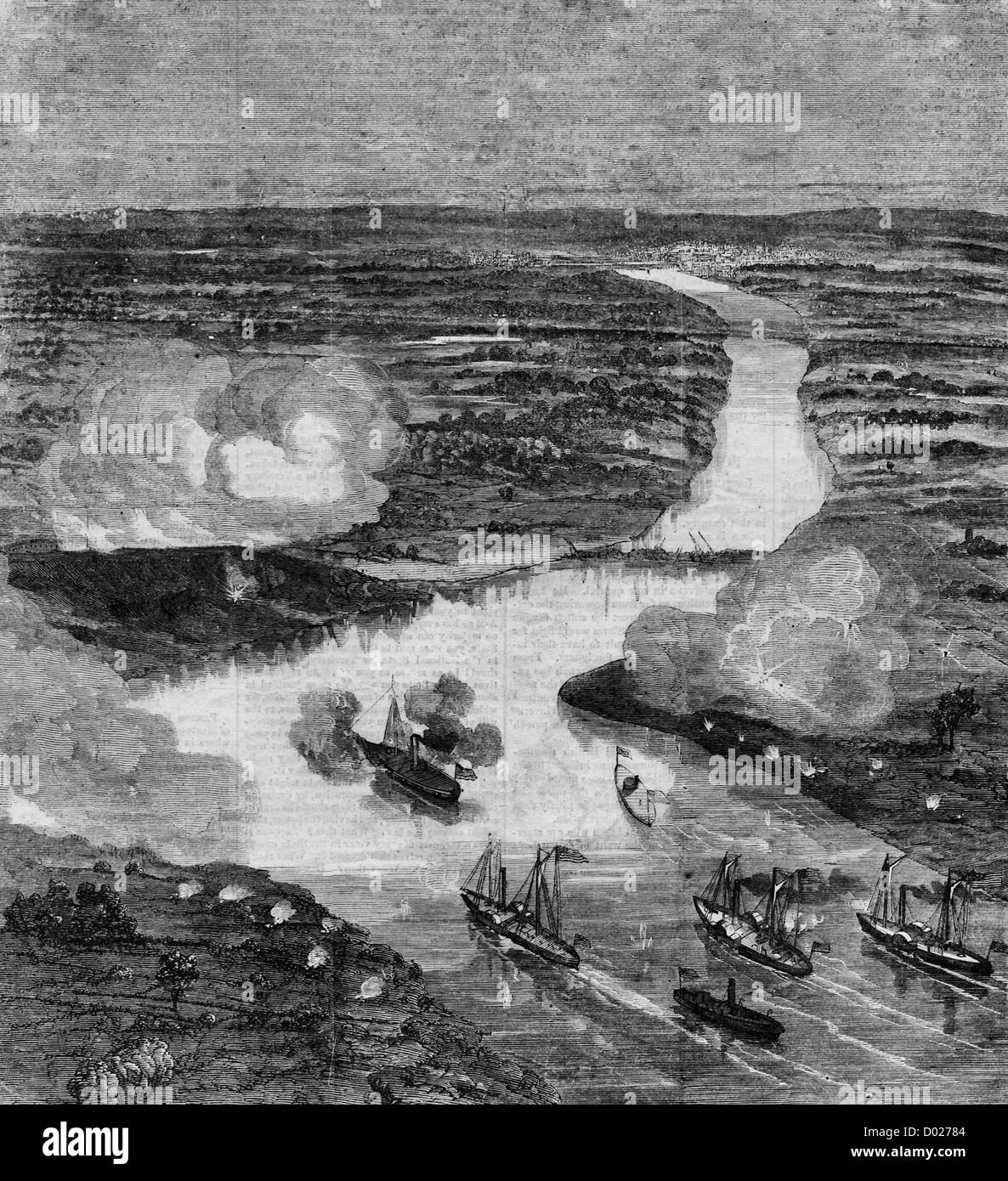 The Battle of Fort Darling, near Richmond, Virginia, May 1862 - Stock Image