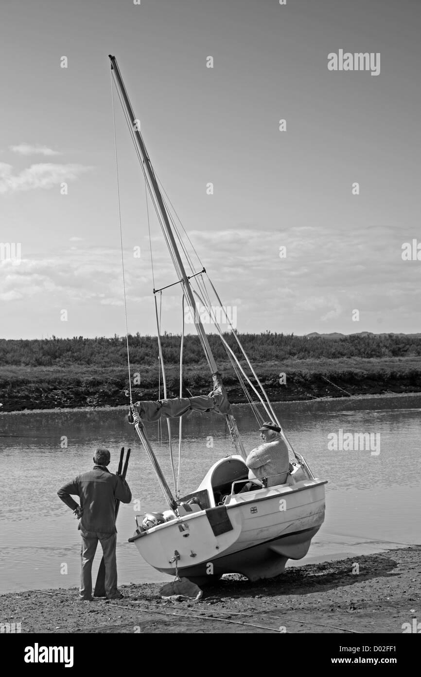 Waiting for the Tide at Blakeney Norfolk - Stock Image