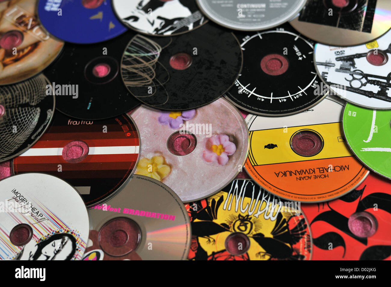 A pile of many different music CDs Stock Photo: 51689668 - Alamy