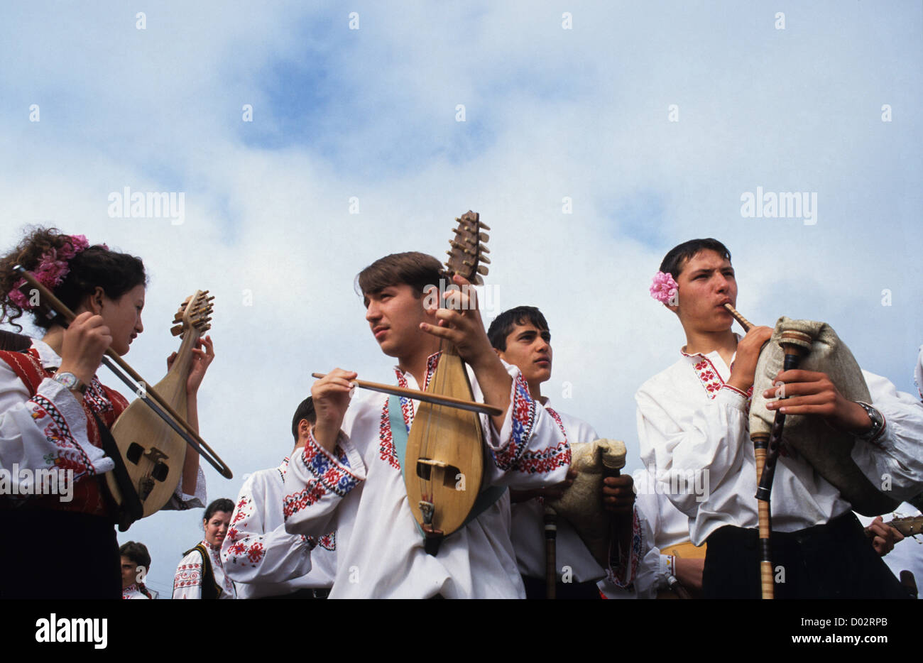 BULGARIA Kazanlak, traditional rose festival during harvest time of Damascena rose flowers which are used for essential - Stock Image