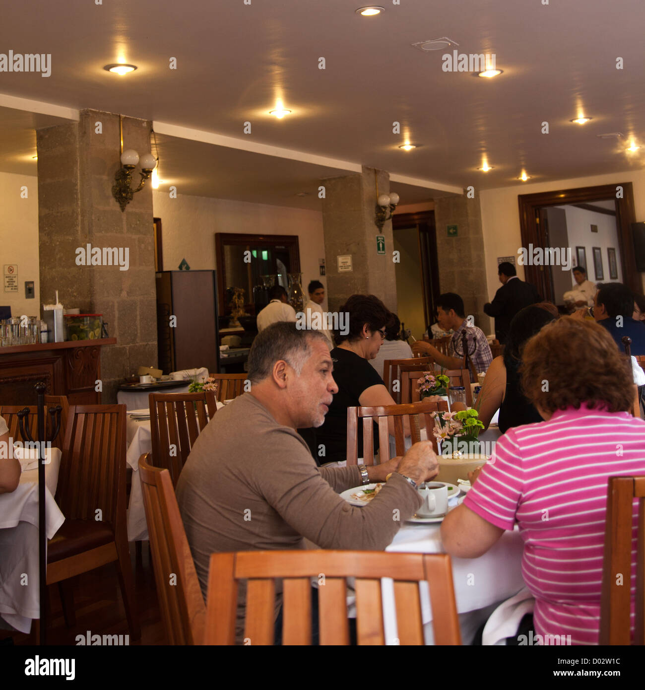 Lunch at El Cardenal Restaurant in Mexico City DF - Stock Image