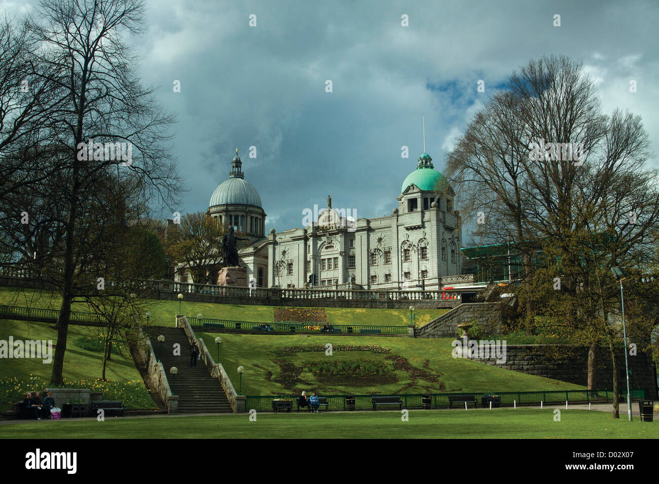 His Majesty's Theatre from Union Terrace Gardens in the city of Aberdeen - Stock Image