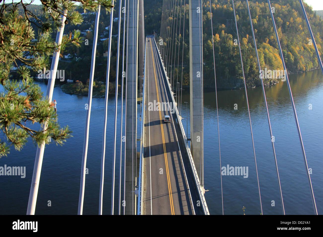 Bridge in Brevik, south Norway. Stock Photo