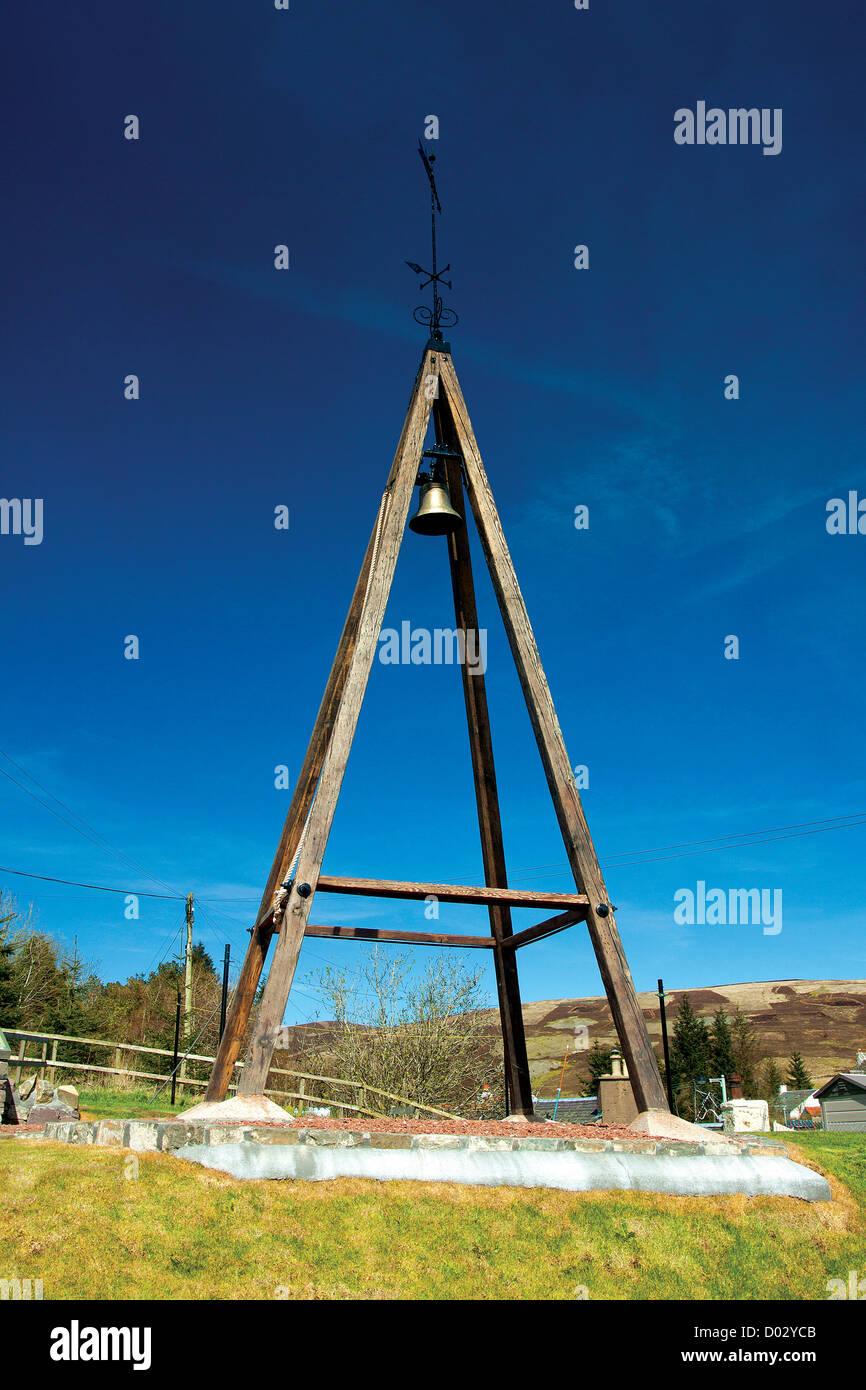Curfew Bell, Leadhills - Stock Image