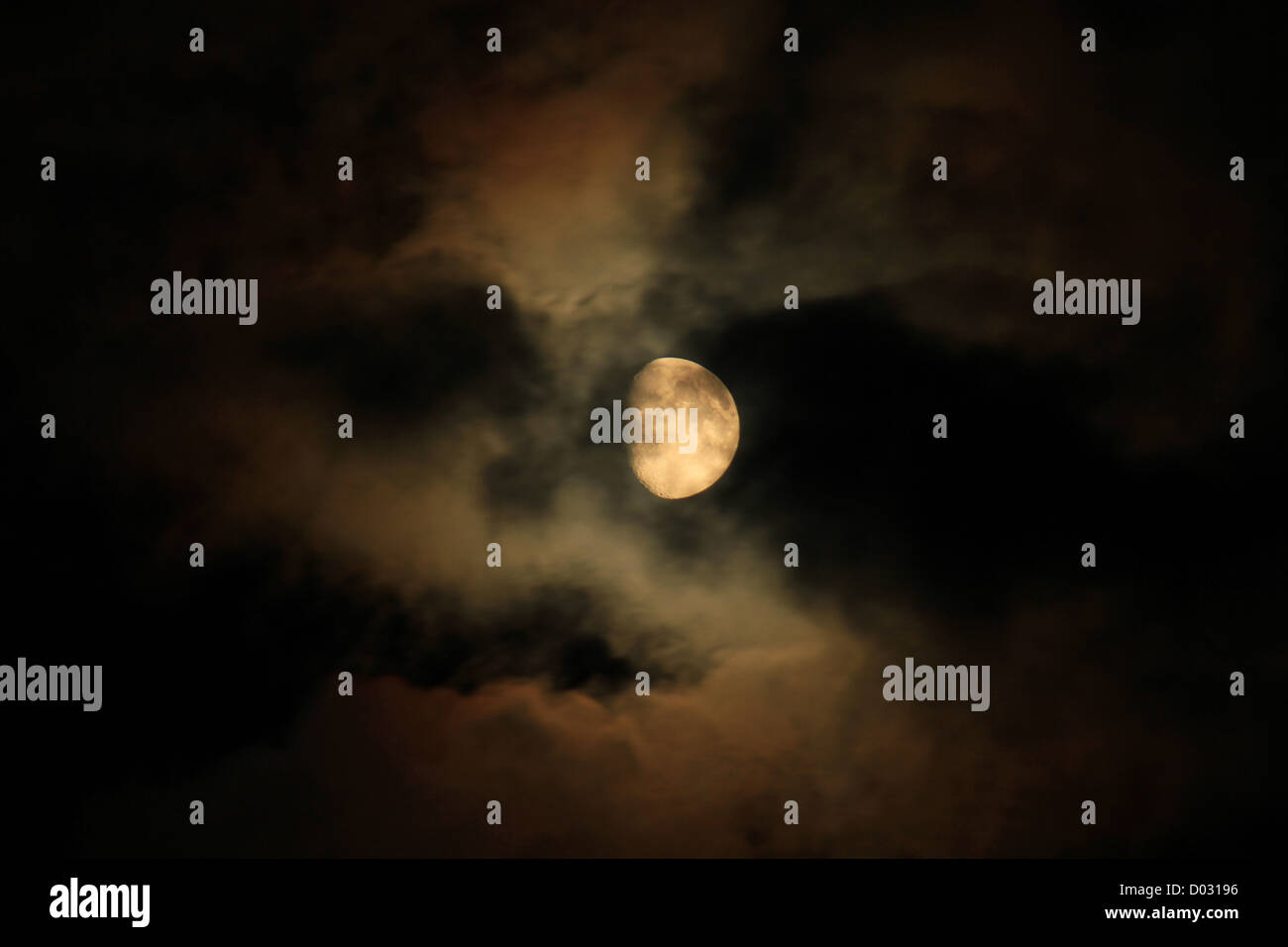 The moon hide behind sky. - Stock Image