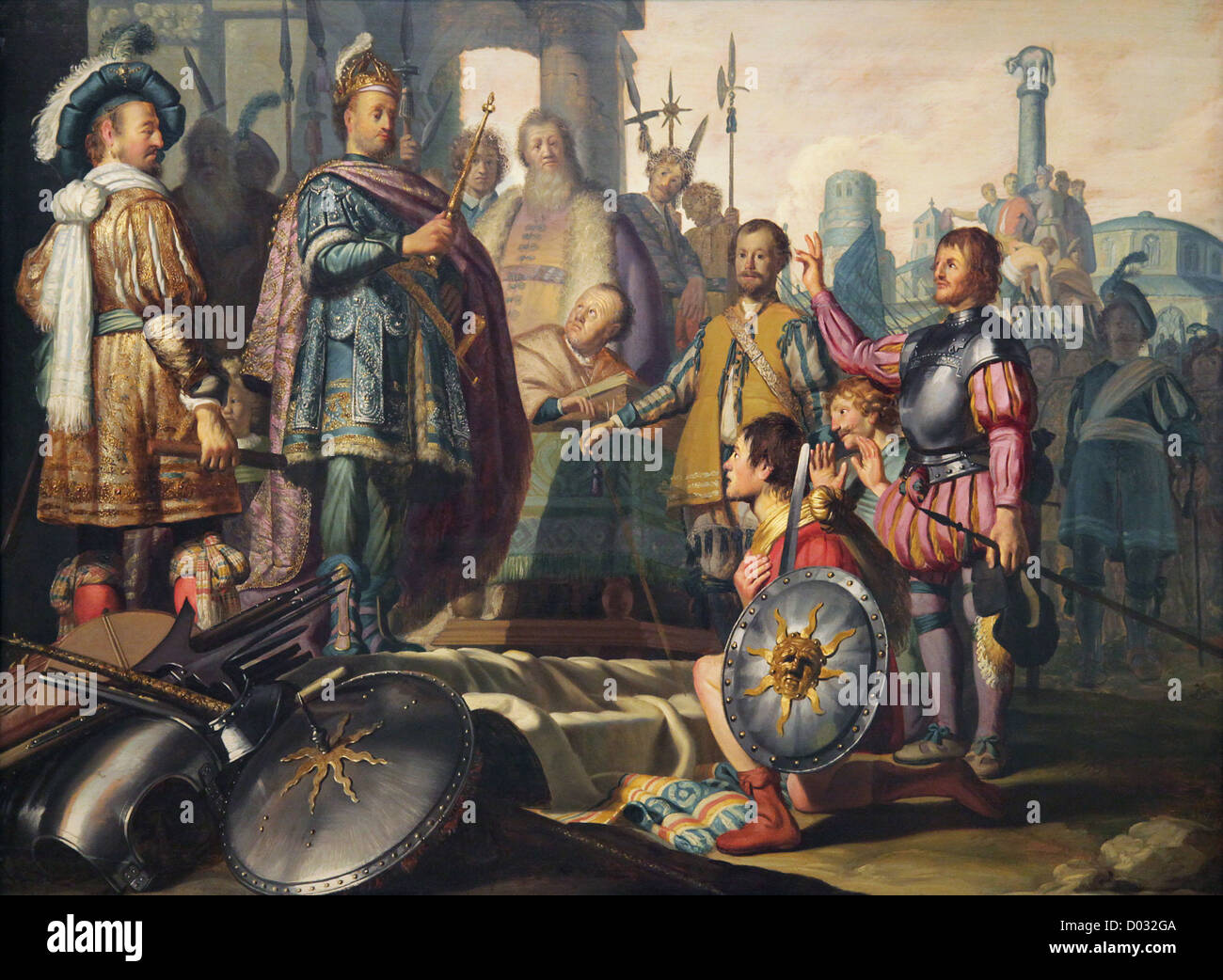 Rembrandt van Rijn.1606-1669.Dutch painter.History painting 1626 Stock Photo
