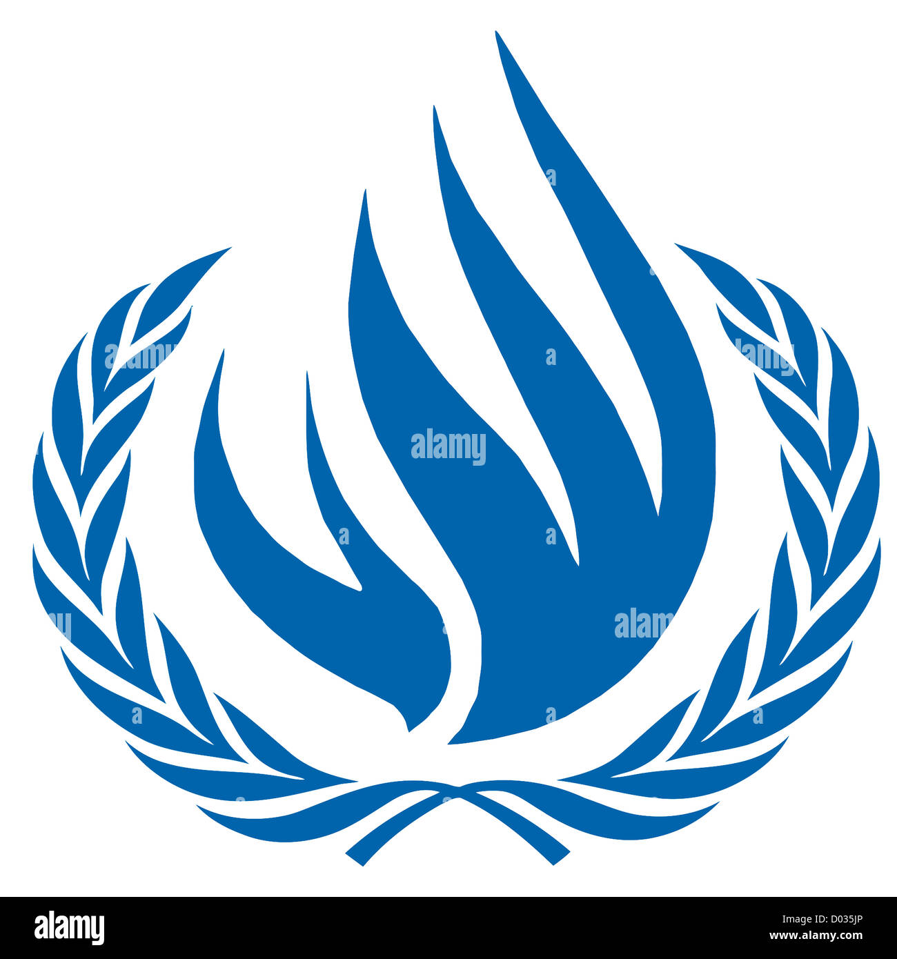 Logo of the Human Rights Council of the United Nations UNHRC with seat in Geneva. - Stock Image