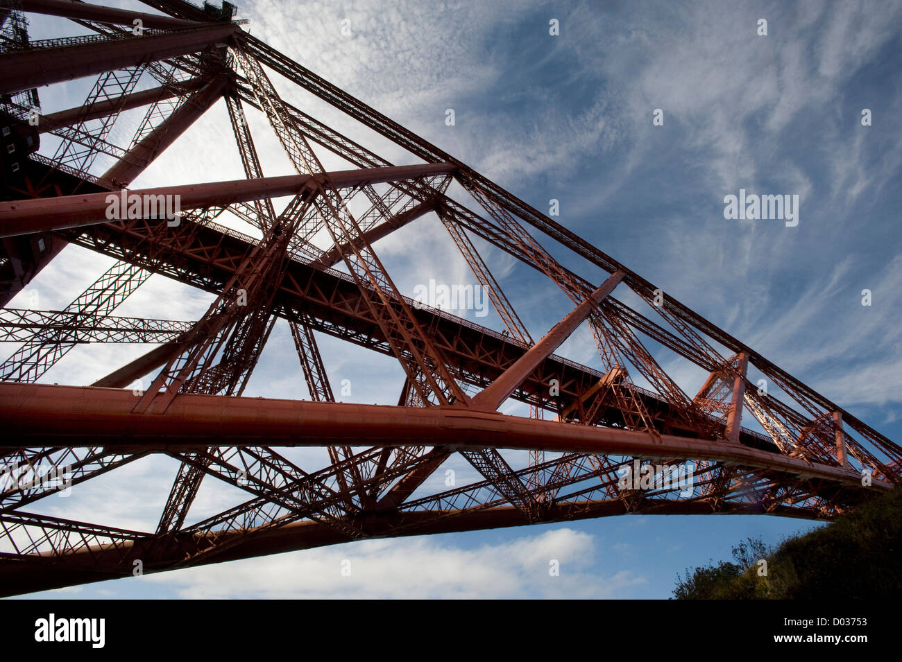The span of the Forth Bridge, Scotland UK - Stock Image