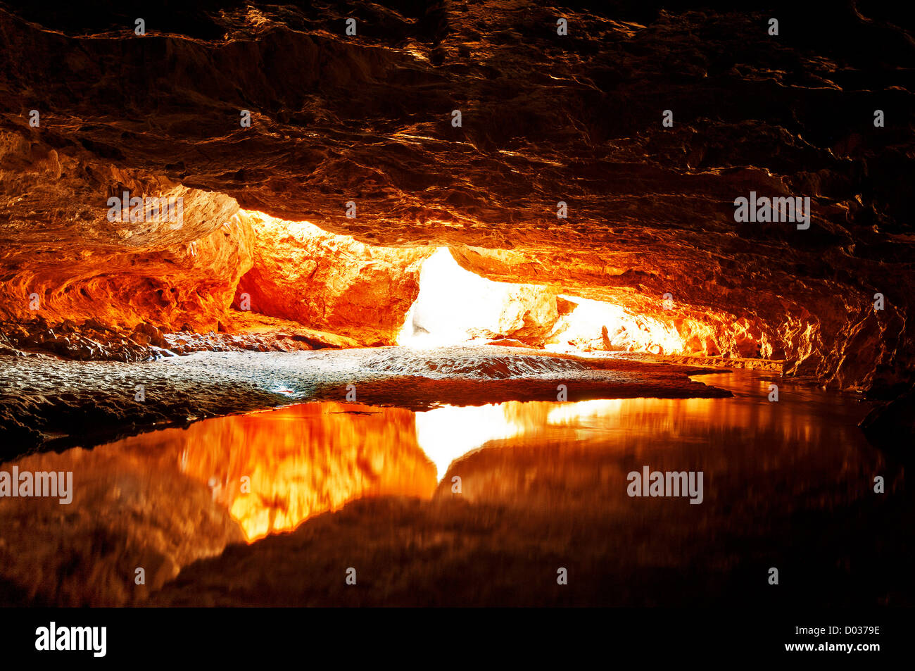 Light at the end of the tunnel at Tunnel Creek. - Stock Image