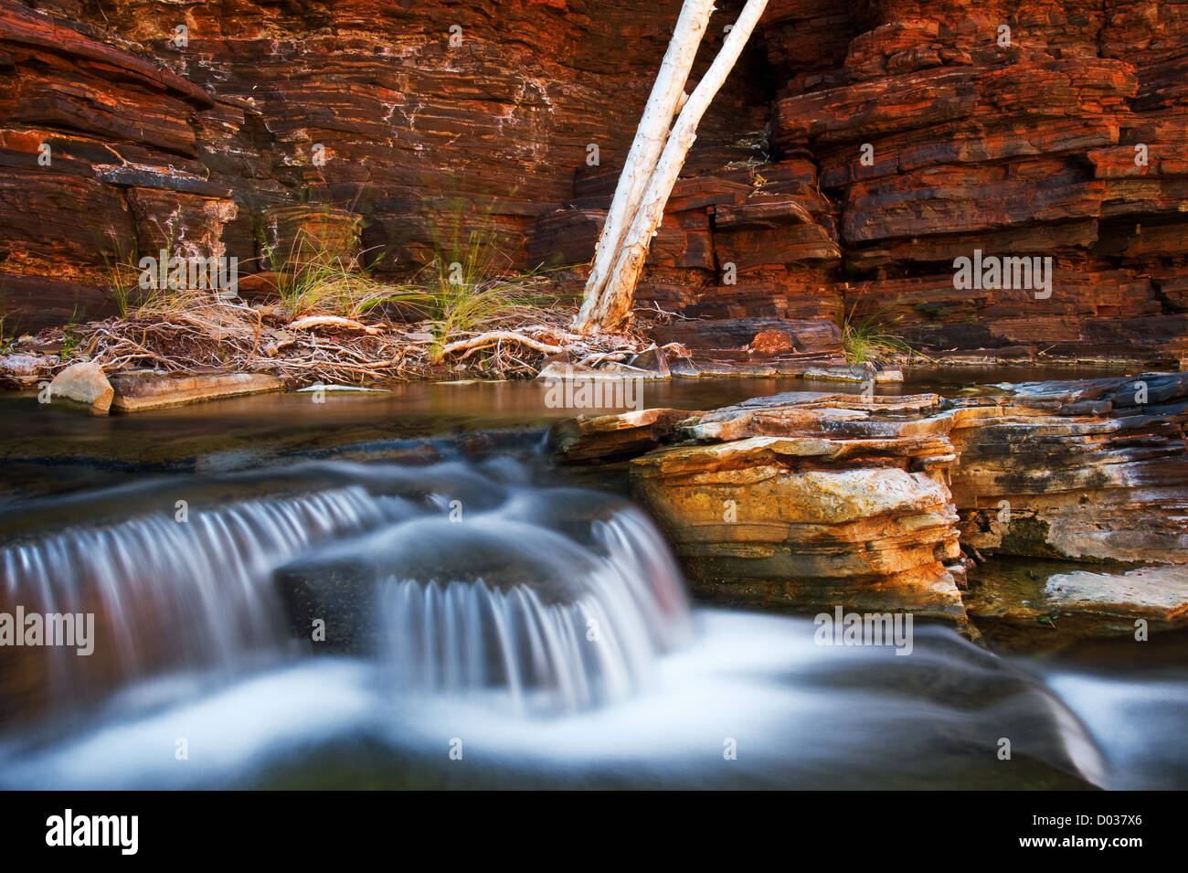 Cascades in Kalamina Gorge. - Stock Image