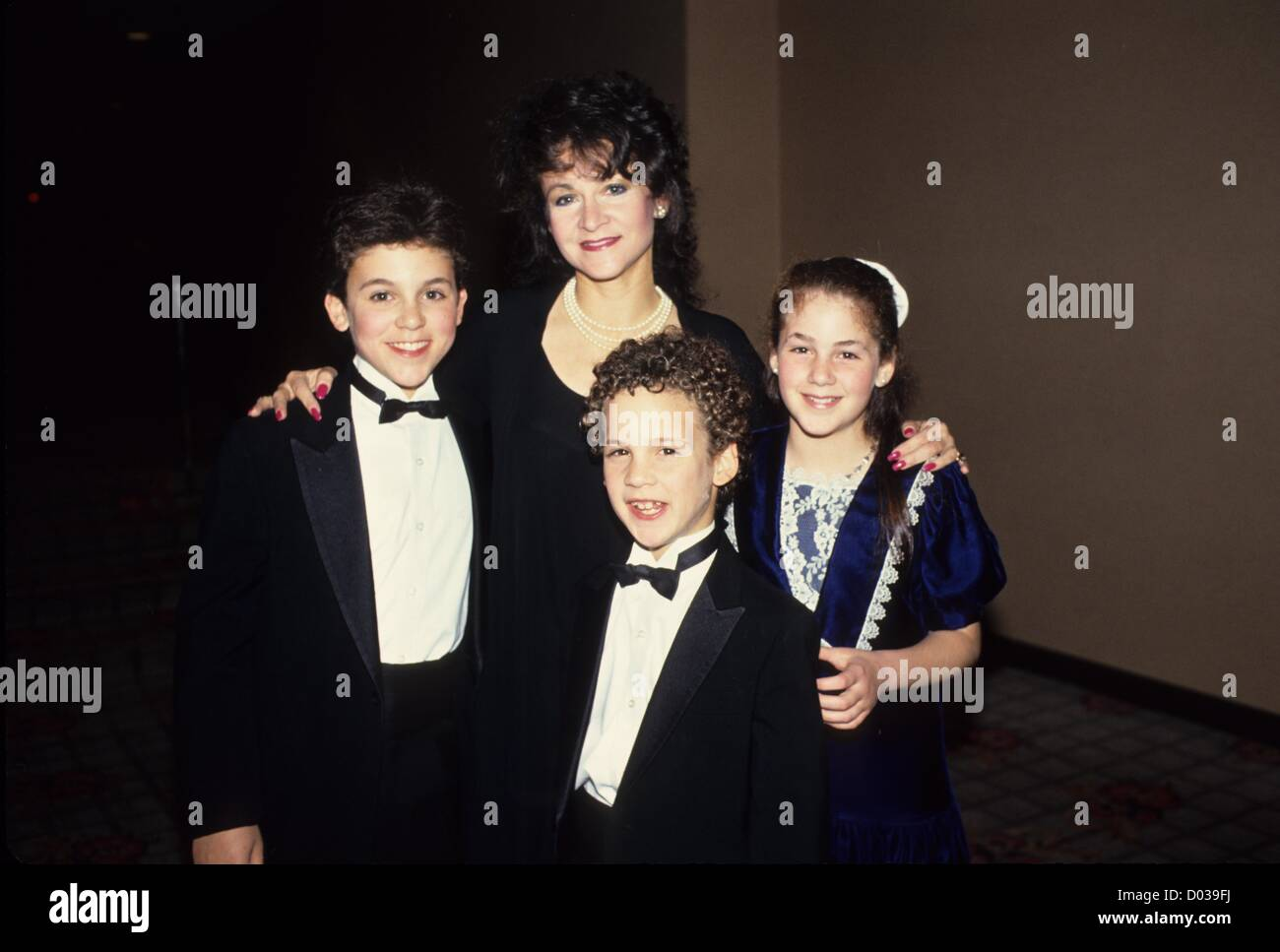FRED SAVAGE with mother Joanne Savage , brother Ben Savage ...