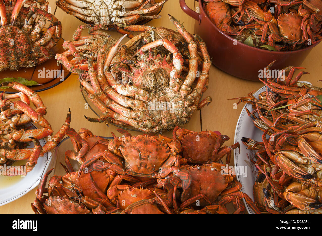 seafood on the table Stock Photo ...
