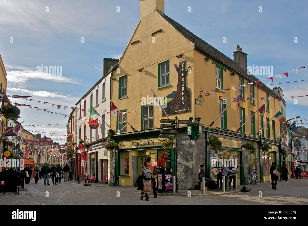 Evergreen Pub Galway County Galway Ireland - Stock Image