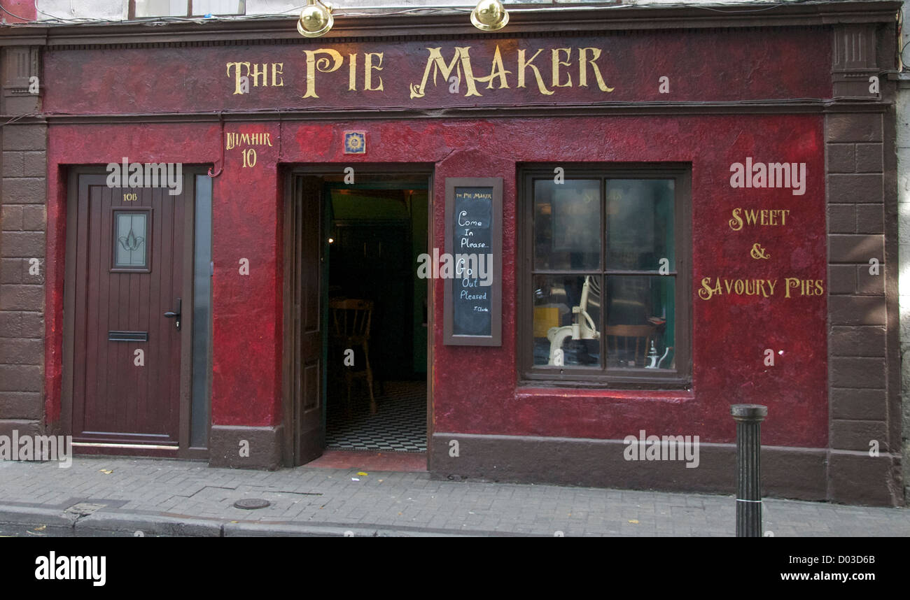 The Pie Maker cafe Galway County Galway Ireland - Stock Image