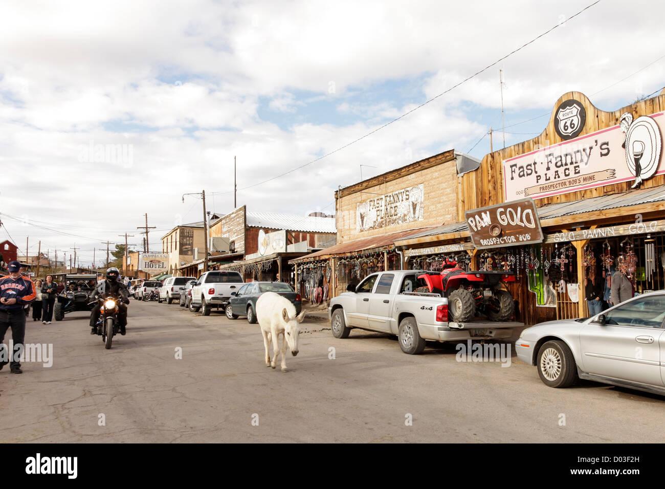 Oatman, Arizona, United States. Route 66 Stock Photo