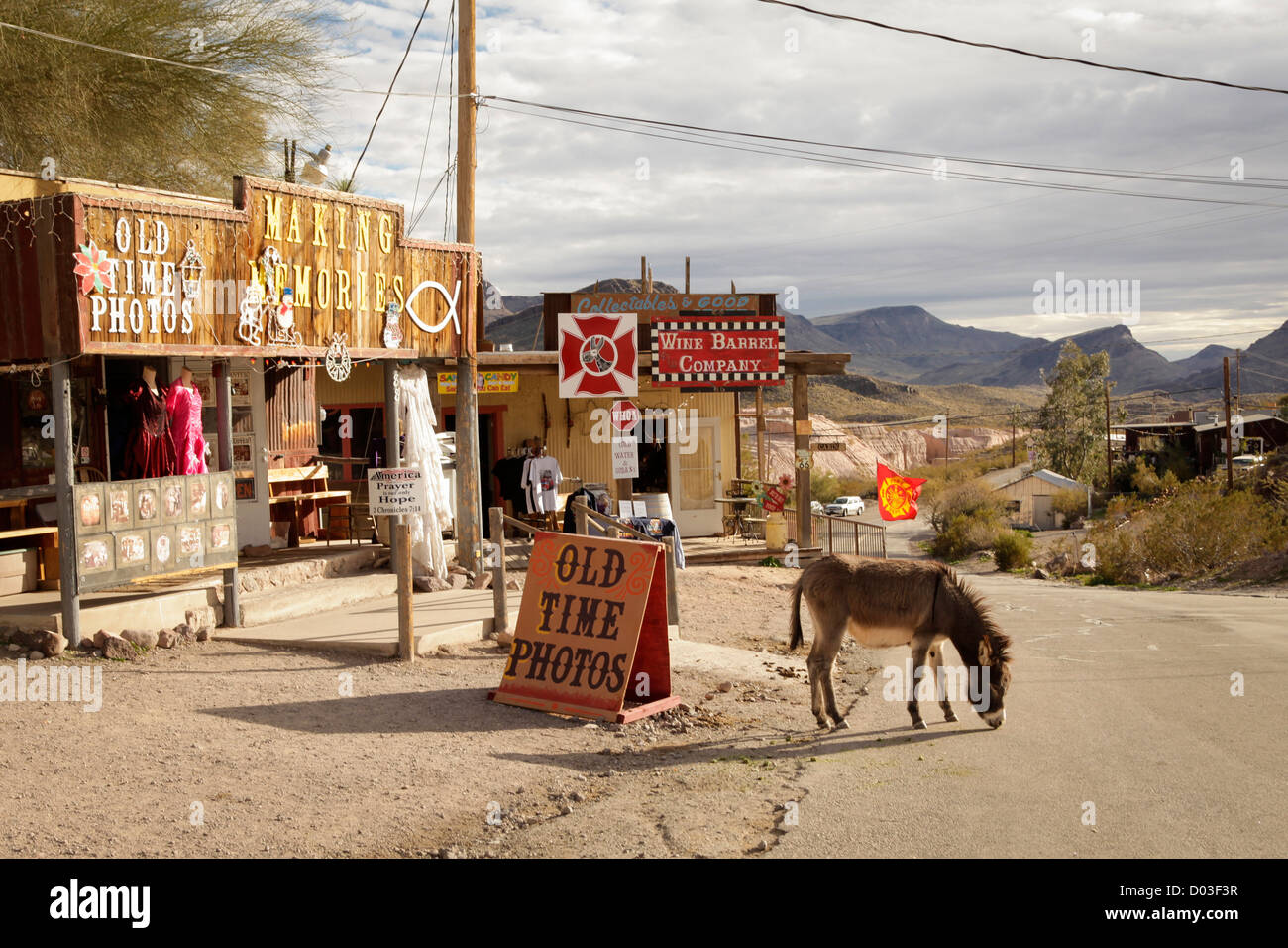 Oatman, Arizona, United States. Route 66 - Stock Image