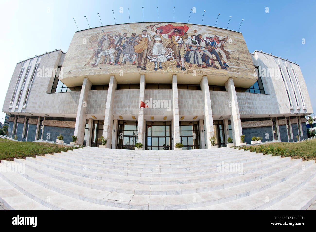 The National Historical Museum in Tirana, the capital of Albania. - Stock Image