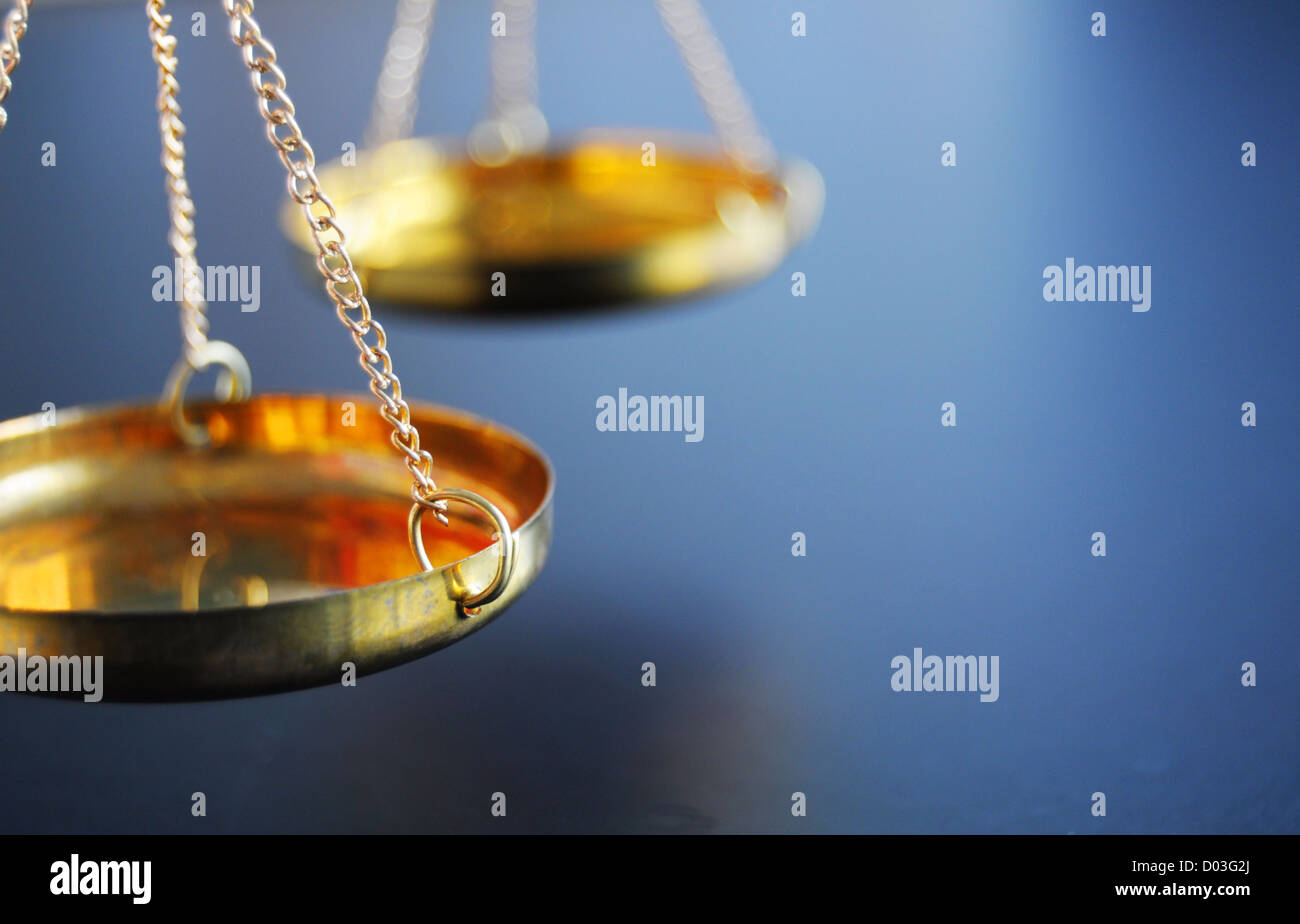 sclaes with copyspace showing law justice or court concept - Stock Image