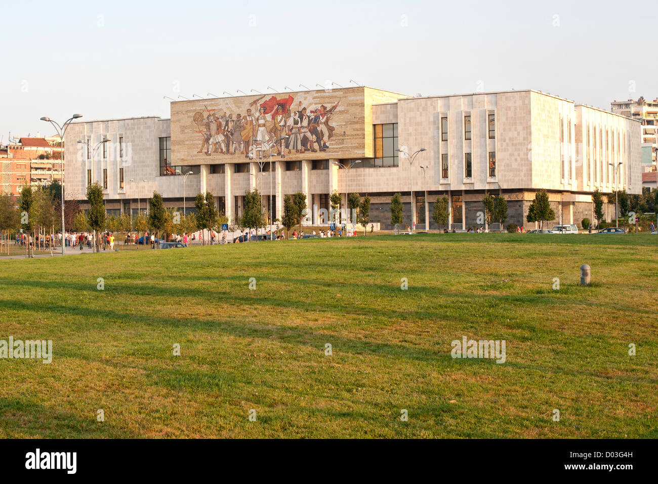 The National Historical Museum in Tirana, the capital of Albania. Stock Photo