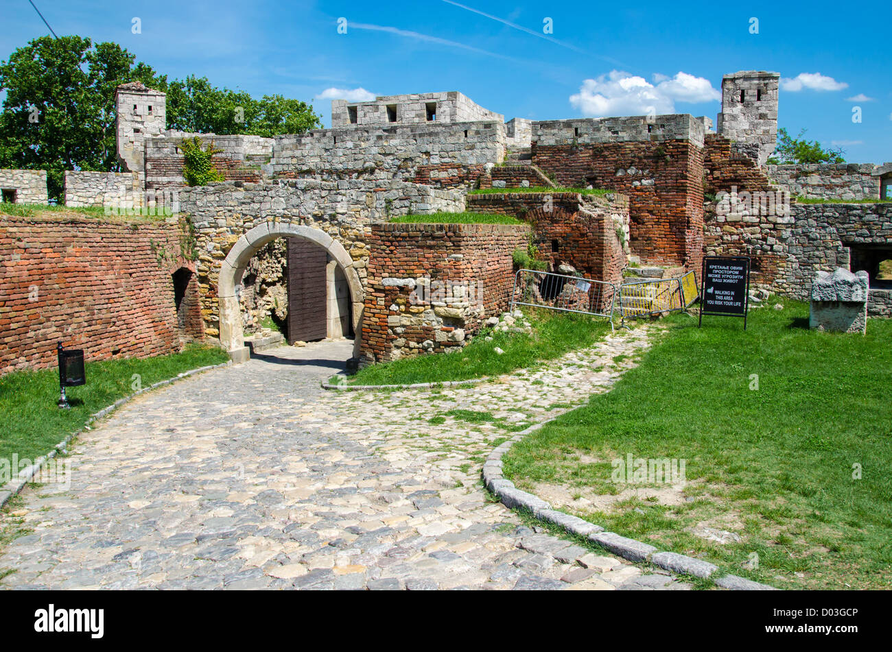 Kalemegdan Fortress, Belgrade - Stock Image