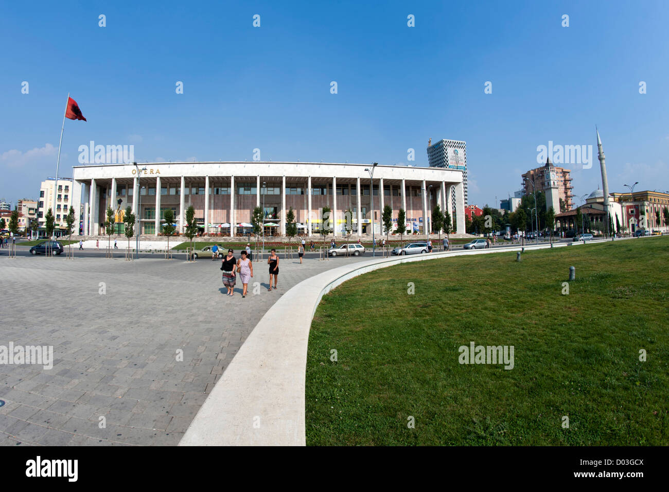 The National Theatre and Opera House building in Tirana, the capital of Albania. - Stock Image