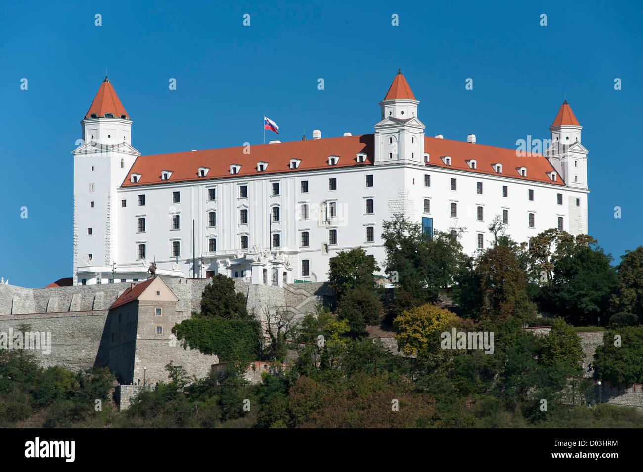 Bratislava castle in Bratislava, the capital of Slovakia. - Stock Image
