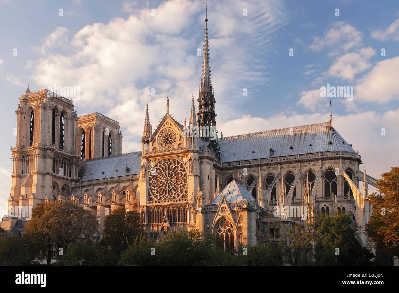 Notre Dame de Paris; La cathédrale Notre-Dame de Paris Stock Photo