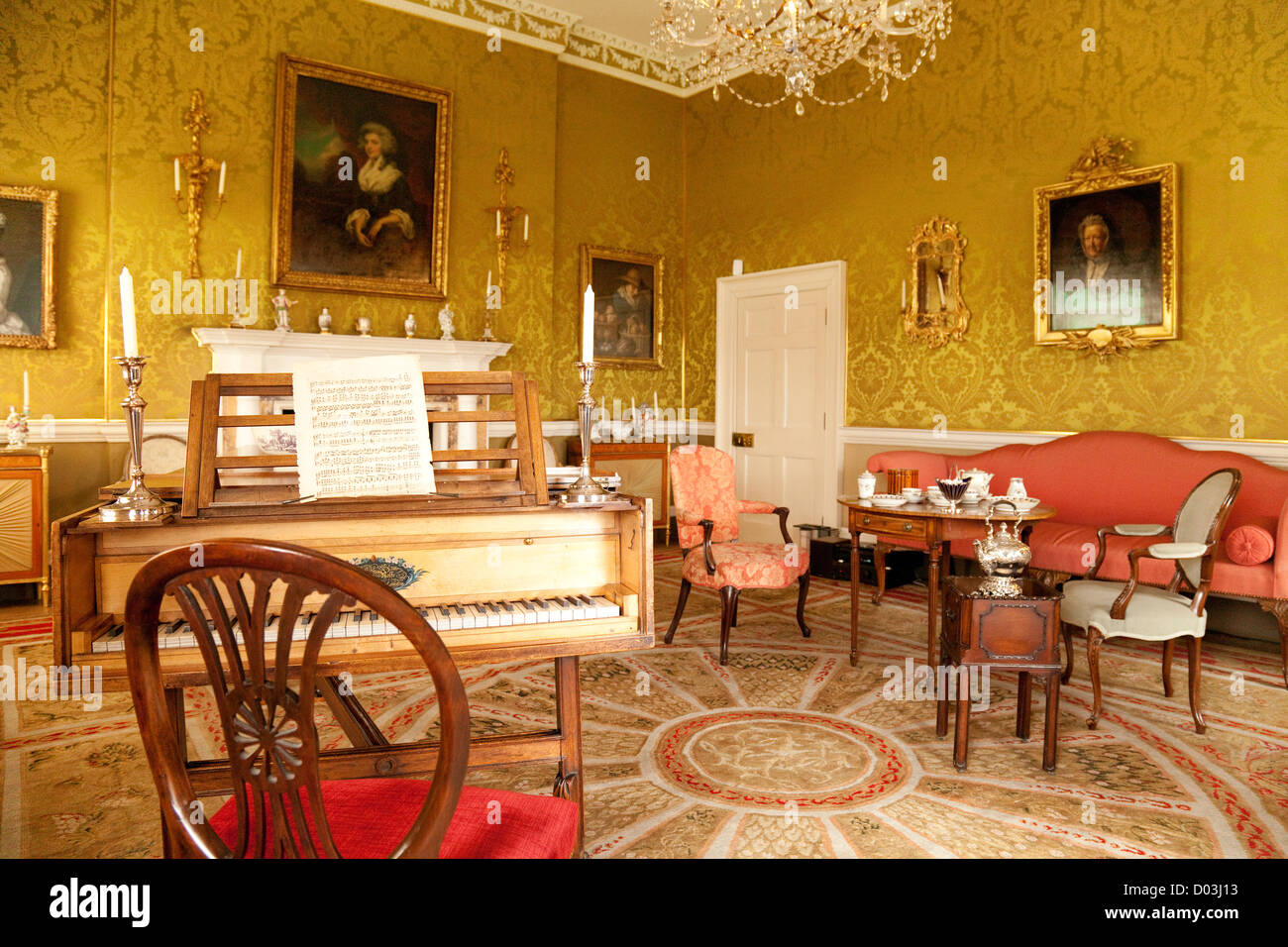 The Drawing Room In 1 Royal Crescent An English Georgian Museum House Bath Somerset