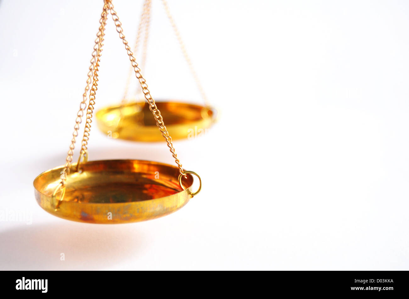 sclaes with copyspace showing law justice or court concept Stock Photo